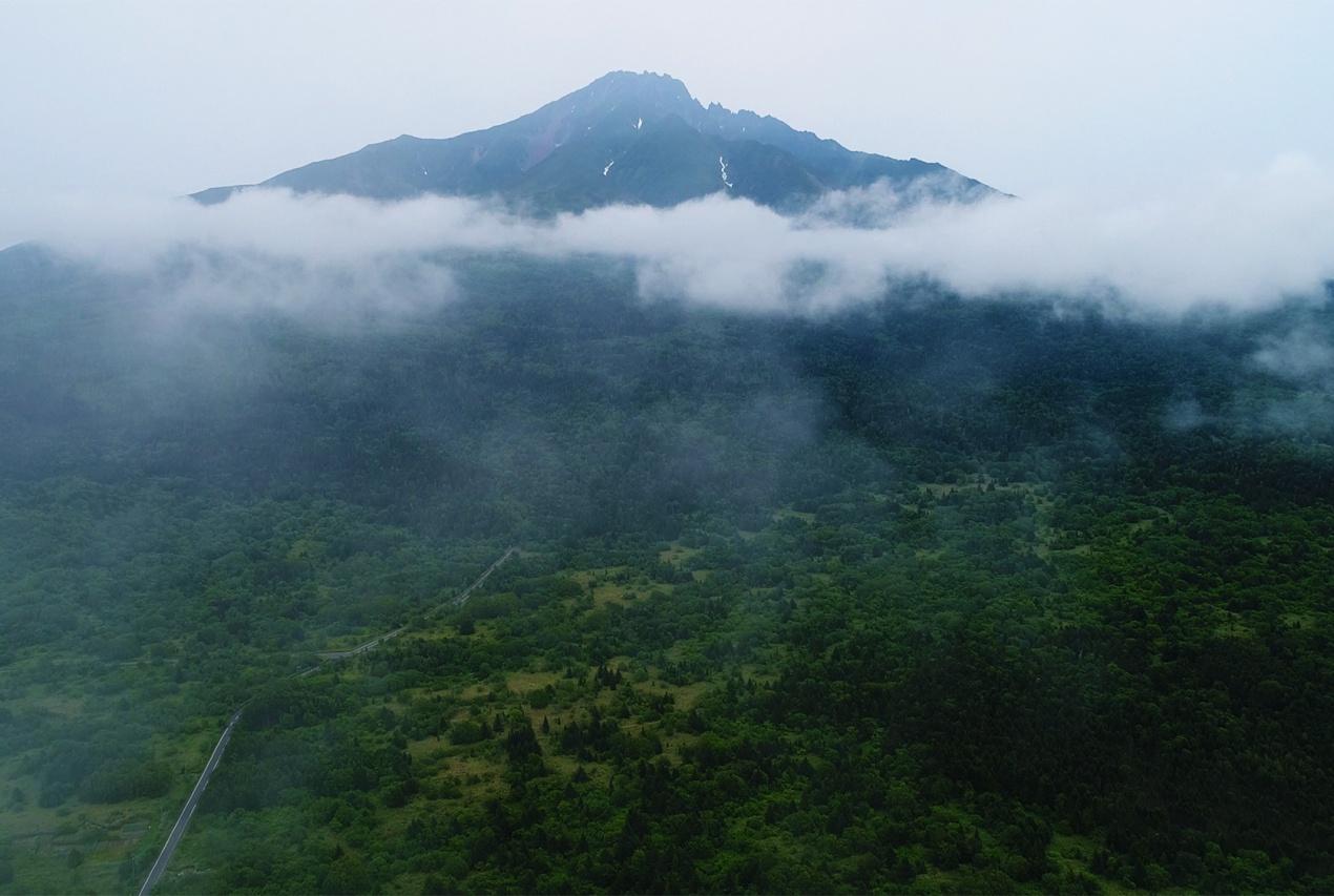 北海道知床半島ドローン空撮画像