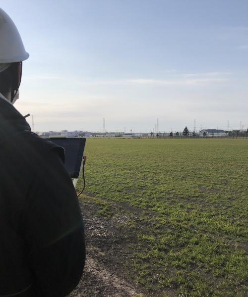 自動航行ドローンによる圃場データの取得